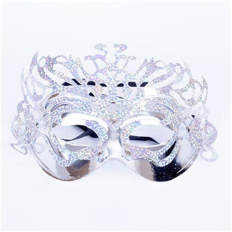 Yılbaşı Gümüş Renkli  Maske