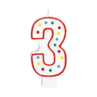 3 Rakam Doğum Günü Mumu