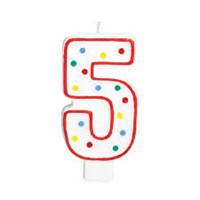 5 Rakam Doğum Günü Mumu