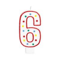 6 Rakam Doğum Günü Mumu