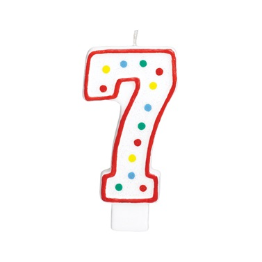 7 Rakam Doğum Günü Mumu
