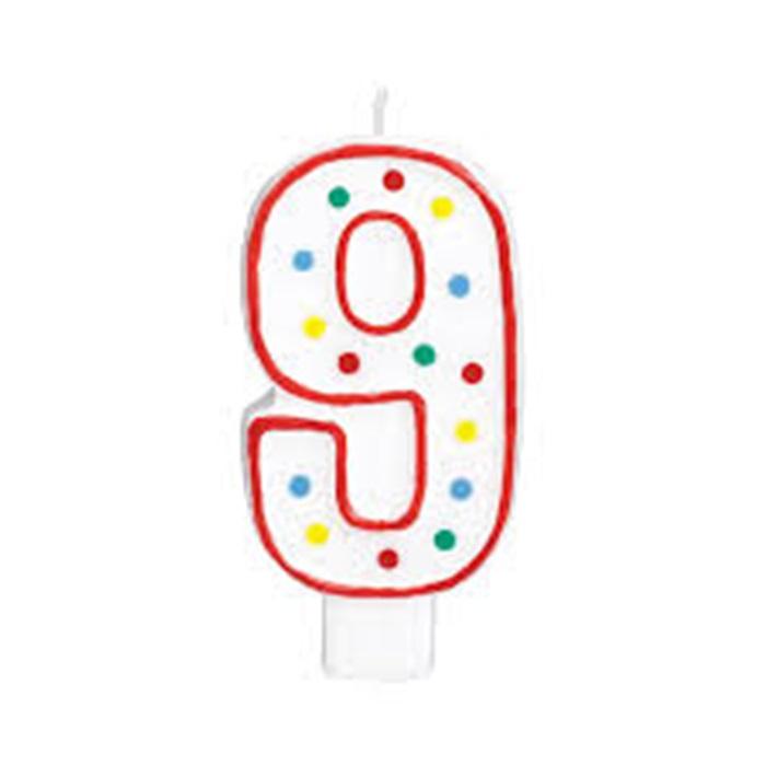 9 Rakam Doğum Günü Mumu