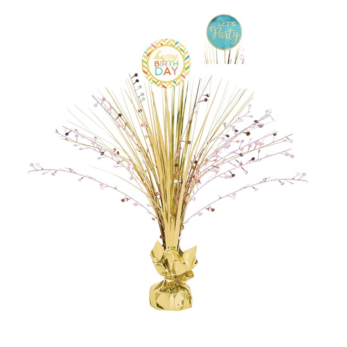 Happy Birthday Dekor Masa Konfetisi