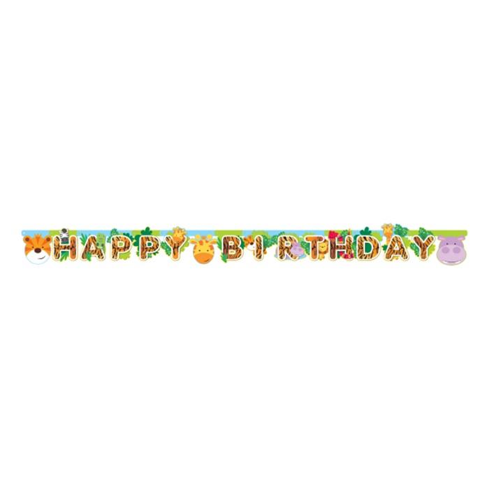 Safari Happy Birthday Yazı