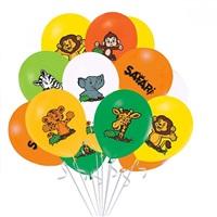 Safari Baskılı Latex Balon