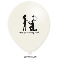 Evlilik Teklifi Baskılı Balon