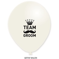 Team Groom Baskılı Balon