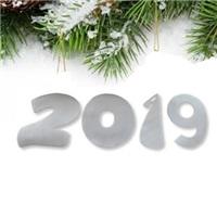 Yılbaşı 2019 Yazısı Beyaz Strafor