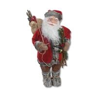 Yılbaşı Noel Baba Meşaleli Dekor Süs 60 cm.