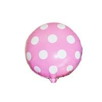 Pembe Puanlı Folyo Balon