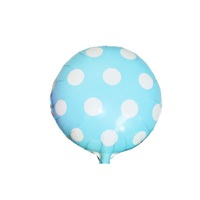 Açık Mavi Puanlı Folyo Balon