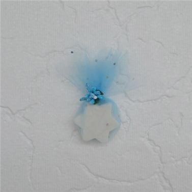 Yıldız Desenli Kokulu Sabun Mavi Renk