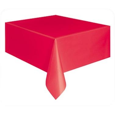 Kırmızı Plastik Masa Örtüsü