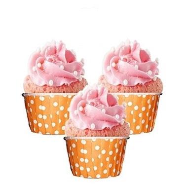 Turuncu Puanlı Muffin Kek Kalıbı