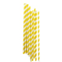 Sarı Çizgili Kağıt Pipet