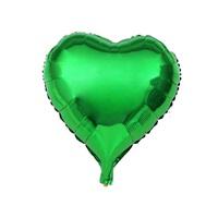Yeşil Renkli Kalp Folyo Balon