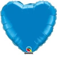 Mavi Kalpli Folyo Balon