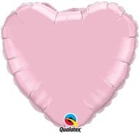 Pembe Renkli Kalpli Folyo Balon