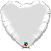 Gümüş Kalpli Folyo Balon