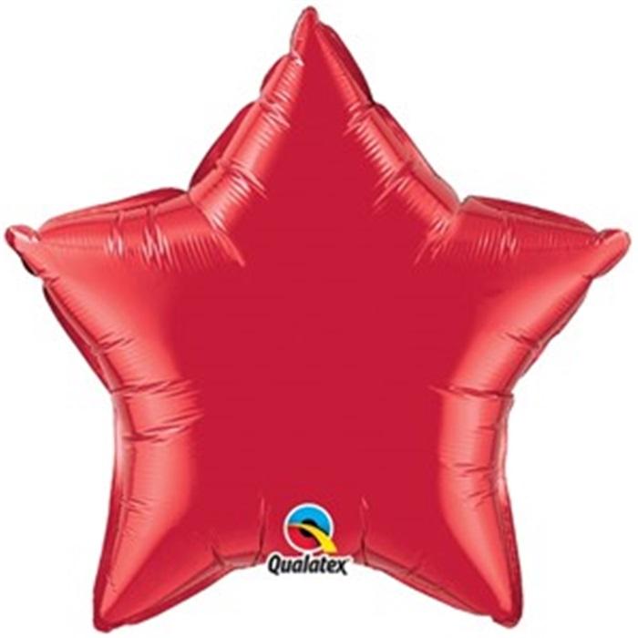 Yıldız Kırmızı Renkli Folyo Balon Büyük