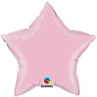 Yıldız Pembe Renkli Folyo Balon