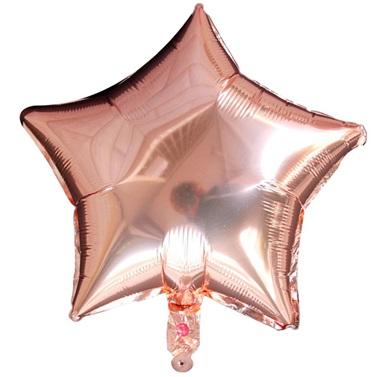 Rose Yıldız Folyo Balon