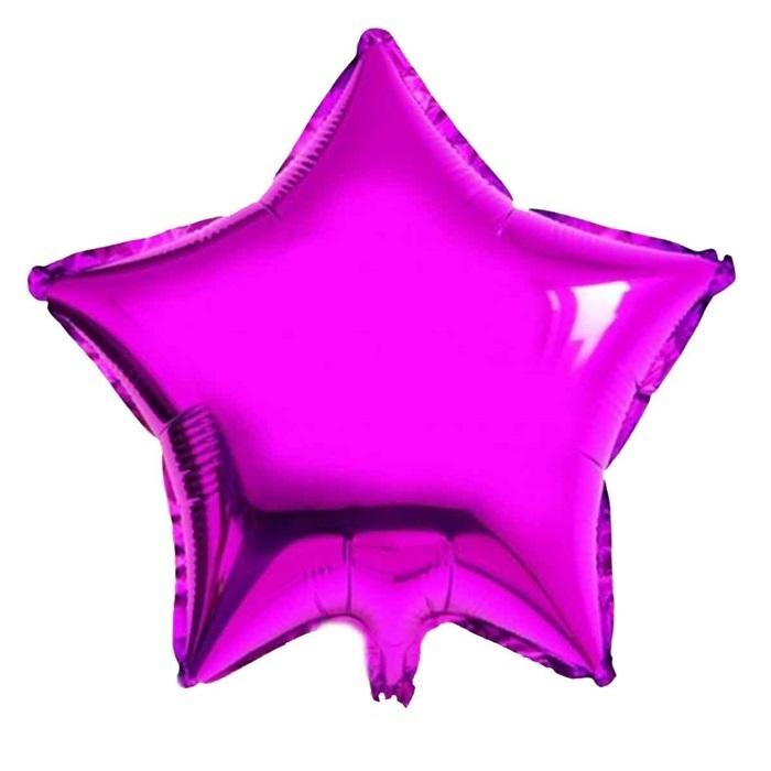 Fuşya Renkli Yıldız Folyo Balon Büyük