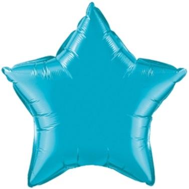 Turkuaz Renkli Yıldız Folyo Balon