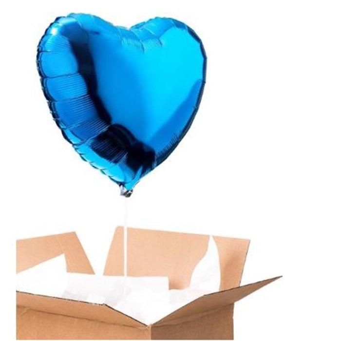 Sevgiliye Sürpriz Mavi Kalp Folyo Balon