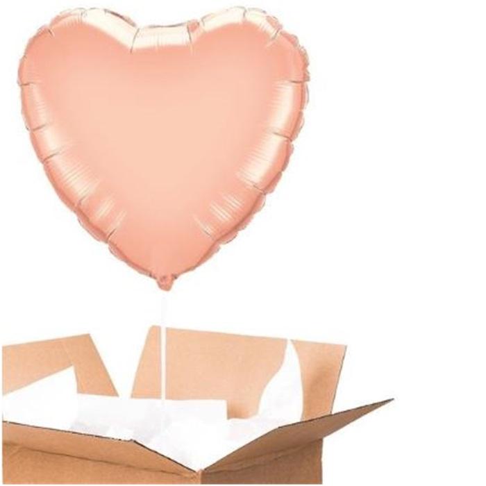 Sevgiliye Sürpriz Rose Kalp Folyo Balon