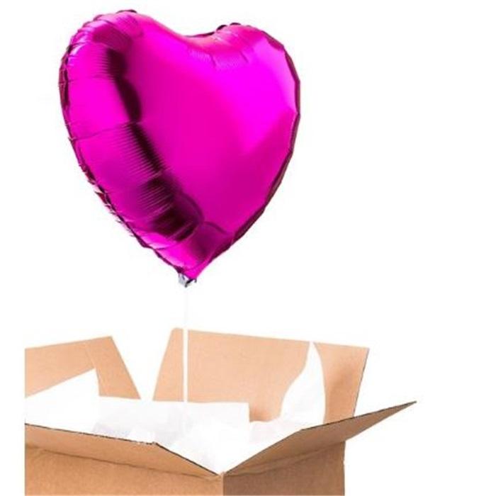Sevgiliye Sürpriz Fuşya Kalp Folyo Balon