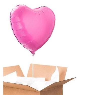 Sevgiliye Sürpriz Pembe Kalp Folyo Balon