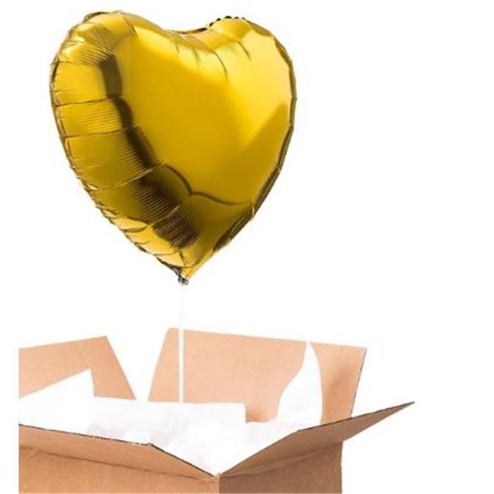 Sevgiliye Sürpriz Altın Kalp Folyo Balon