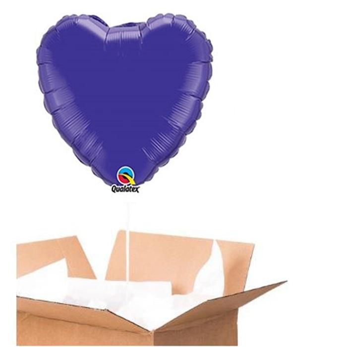 Sevgiliye Sürpriz Mor Kalp Folyo Balon