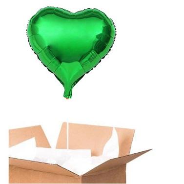 Sevgiliye Sürpriz Yeşil Kalp Folyo Balon