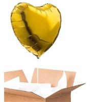 Sevgiliye Sürpriz Altın Kalp Folyo Balon 90 Cm