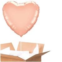 Sevgiliye Sürpriz Rose Kalp Folyo Balon 60 Cm