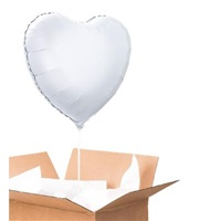 Sevgiliye Sürpriz Gümüş Kalp Folyo Balon 60 Cm
