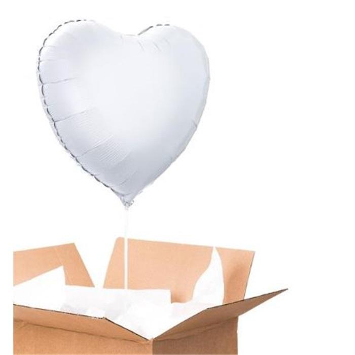 Sevgiliye Sürpriz Gümüş Kalp Folyo Balon 90 Cm