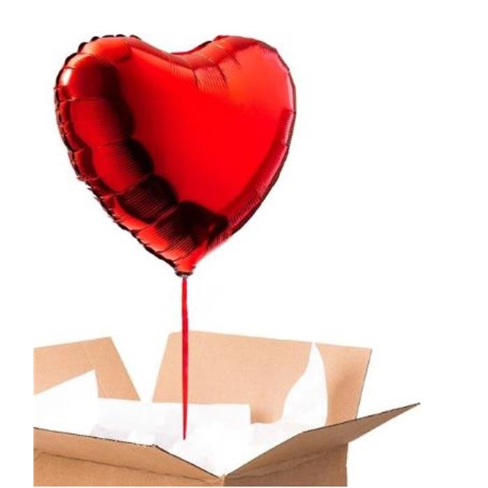 Sevgiliye Sürpriz Kırmızı Kalp Folyo Balon 90 Cm
