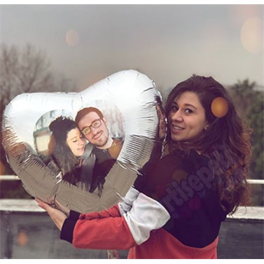 Sevgiliye Özel Kırmızı Kalp Uçan Balon