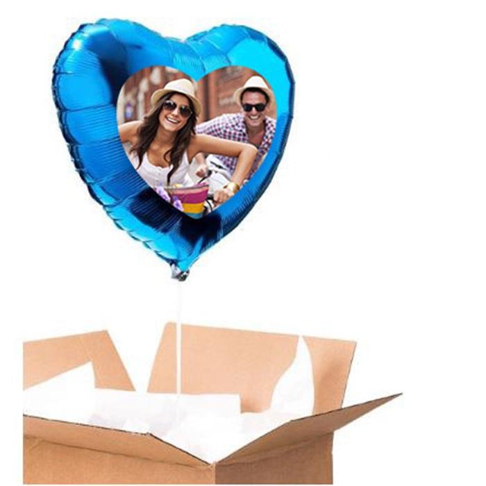 Sevgiliye Özel Mavi Kalp Uçan Balon