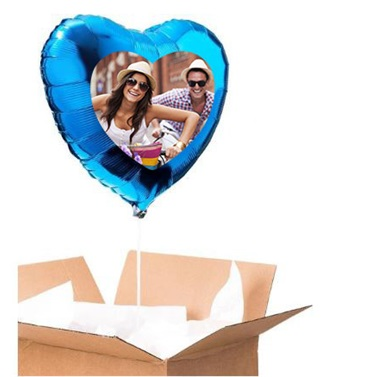 Sevgiliye Özel Mavi Kalp Uçan Balon 60 Cm