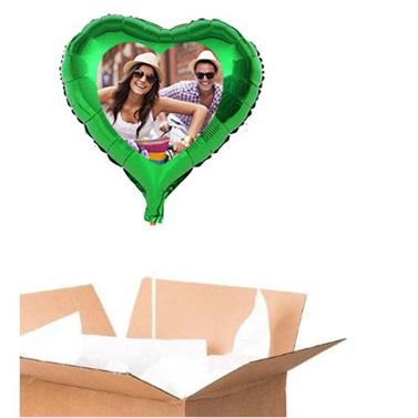 Sevgiliye Özel Yeşil Kalp Uçan Balon 90 Cm