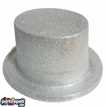 Gümüş Simli Parti Şapkası
