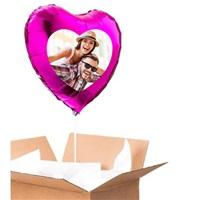 Sevgiliye Özel Fuşya Kalp Uçan Balon 60 Cm