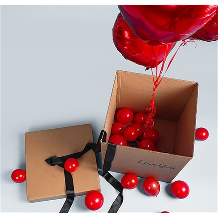 Sevgiliye Özel Turkuaz Kalp Uçan Balon
