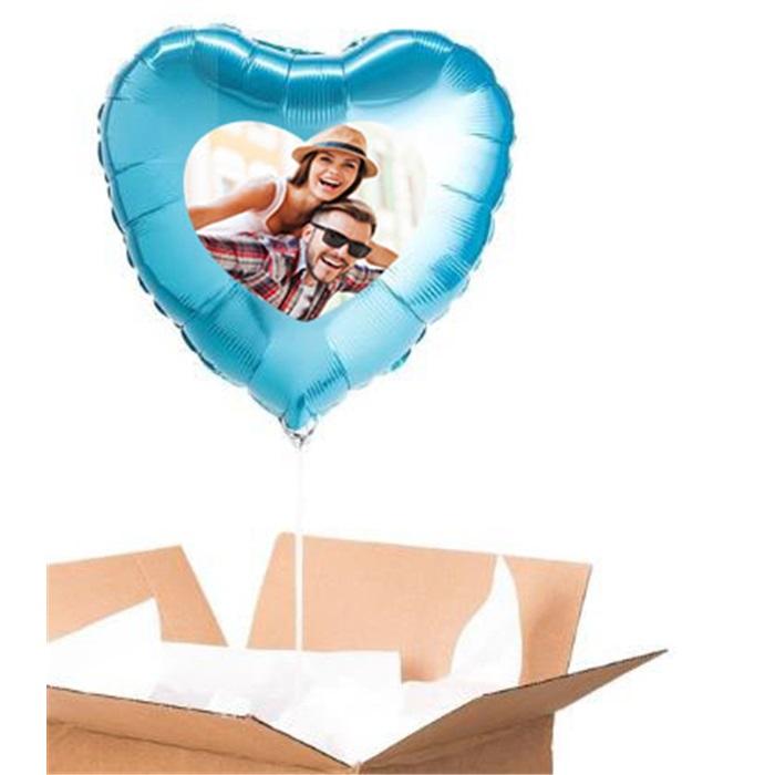 Sevgiliye Özel Turkuaz Kalp Uçan Balon 60 Cm
