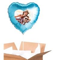 Sevgiliye Özel Turkuaz Kalp Uçan Balon 90 Cm