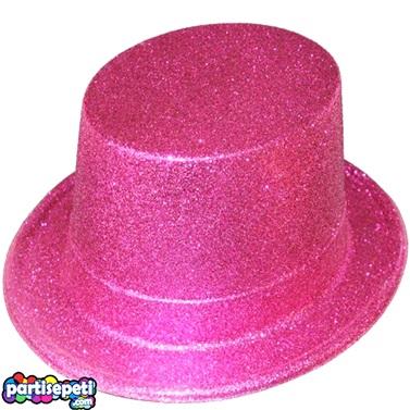Pembe Simli Parti Şapkası
